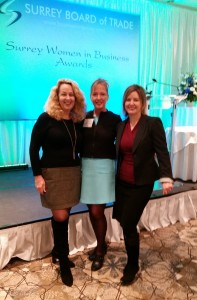 HR ALL-STARS: Sander Reder, Debra Finlayson and Laurie Caldi at the 2016 Surrey Women in Business
