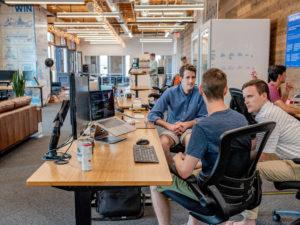 Men sitting at desk